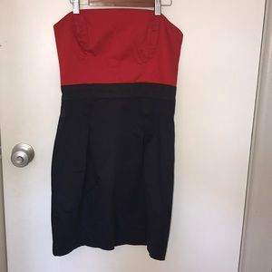 EUC French Connection red & navy dress. 8